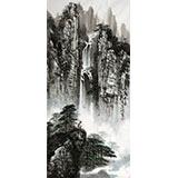 【已售】著名画家王凌云三尺山水《山高水长》(询价)