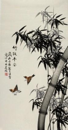 写意国画竹子 - 竹子画 - 99字画网