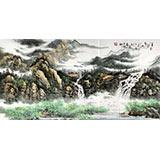 【已售】徐来选四尺山水画《清泉绕碧山》