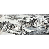 【已售】龙瑞工作室画家宁全喜小八尺雪景山水画《塞北雪霁图》