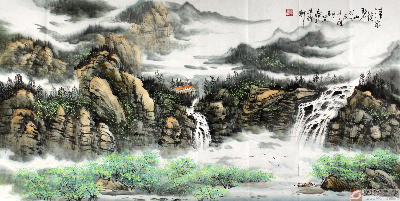 富江山水手绘图