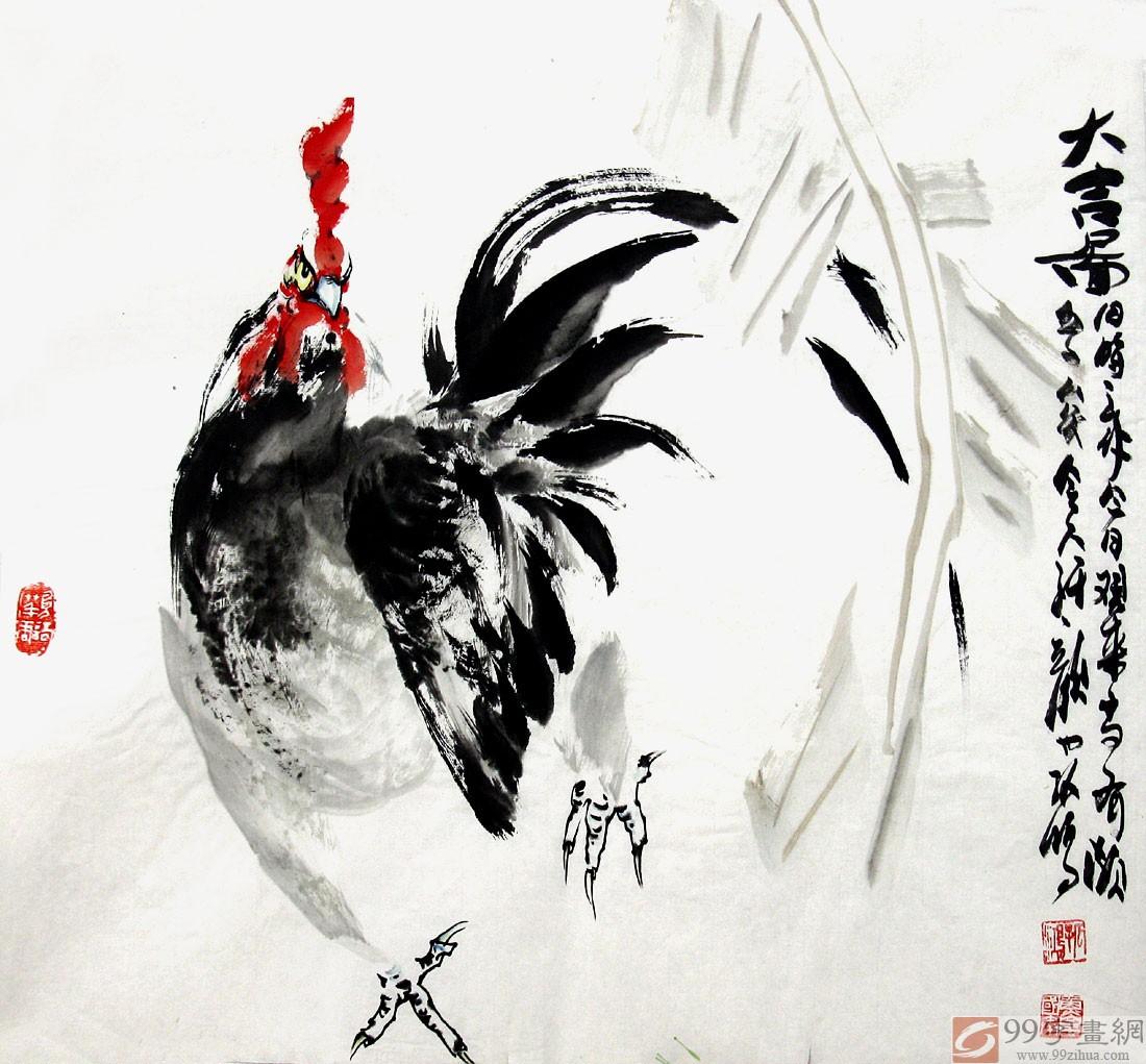 国画写意鸡图片_大写意鸡国画作品_大写意鸡国画作品图片_大写意鸡国画作品内容