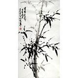 【已售】章昊然三尺墨竹图《清风亮节》