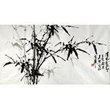 【已售】章昊然三尺翠竹国画《清风亮节》