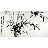 【已售】章昊然三尺竹子国画《清风亮节》