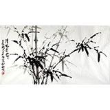 【已售】章昊然三尺墨竹作品《清风亮节》