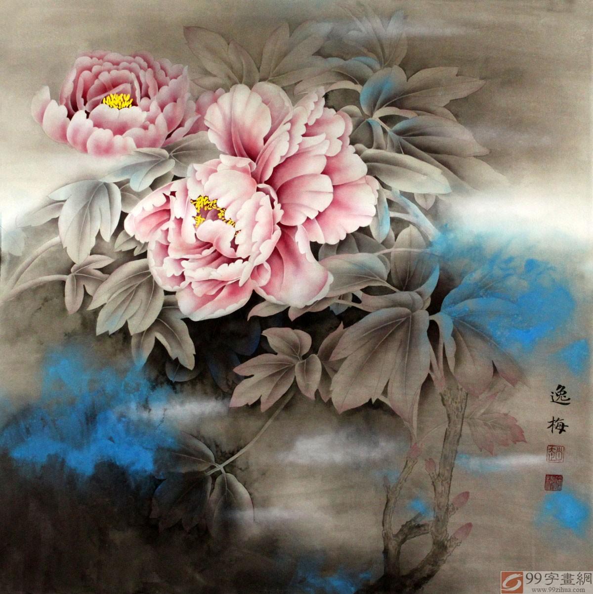 春色富贵工笔牡丹图 - 牡丹画