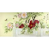 【已售】山东美协赵逸梅四尺《春色满园》