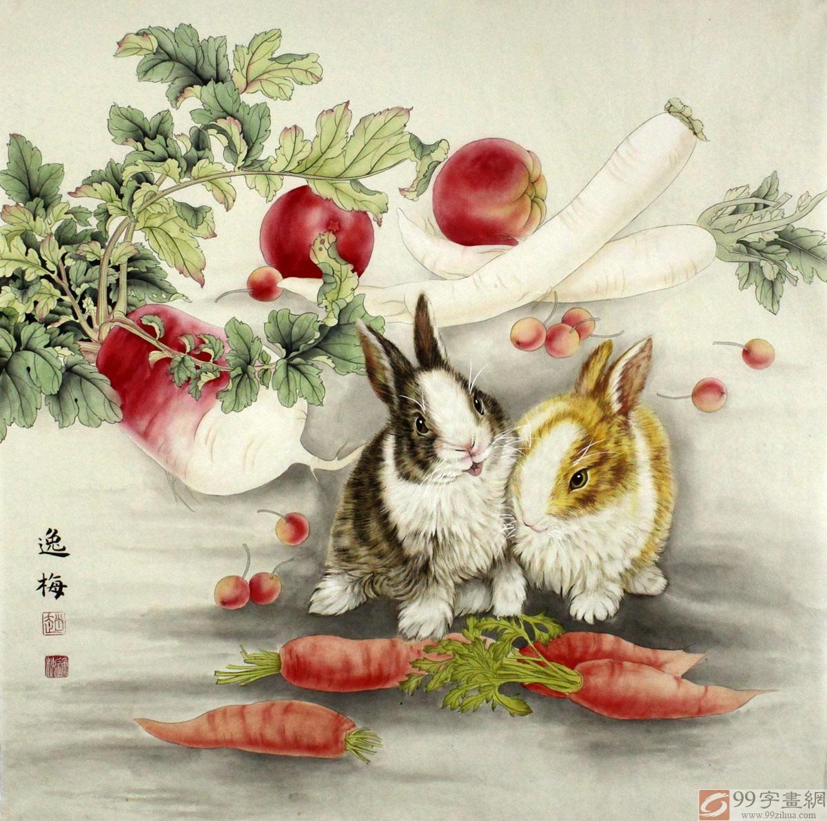 2013迎新春-赵逸梅工笔花鸟画展在山东开幕图片