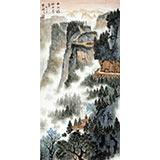 【已售】杜云祥三尺精品山水《山水环抱必有气》