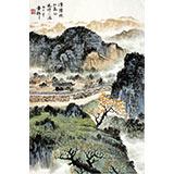 【已售】杜云祥四尺三开山水《清阳畅和气》