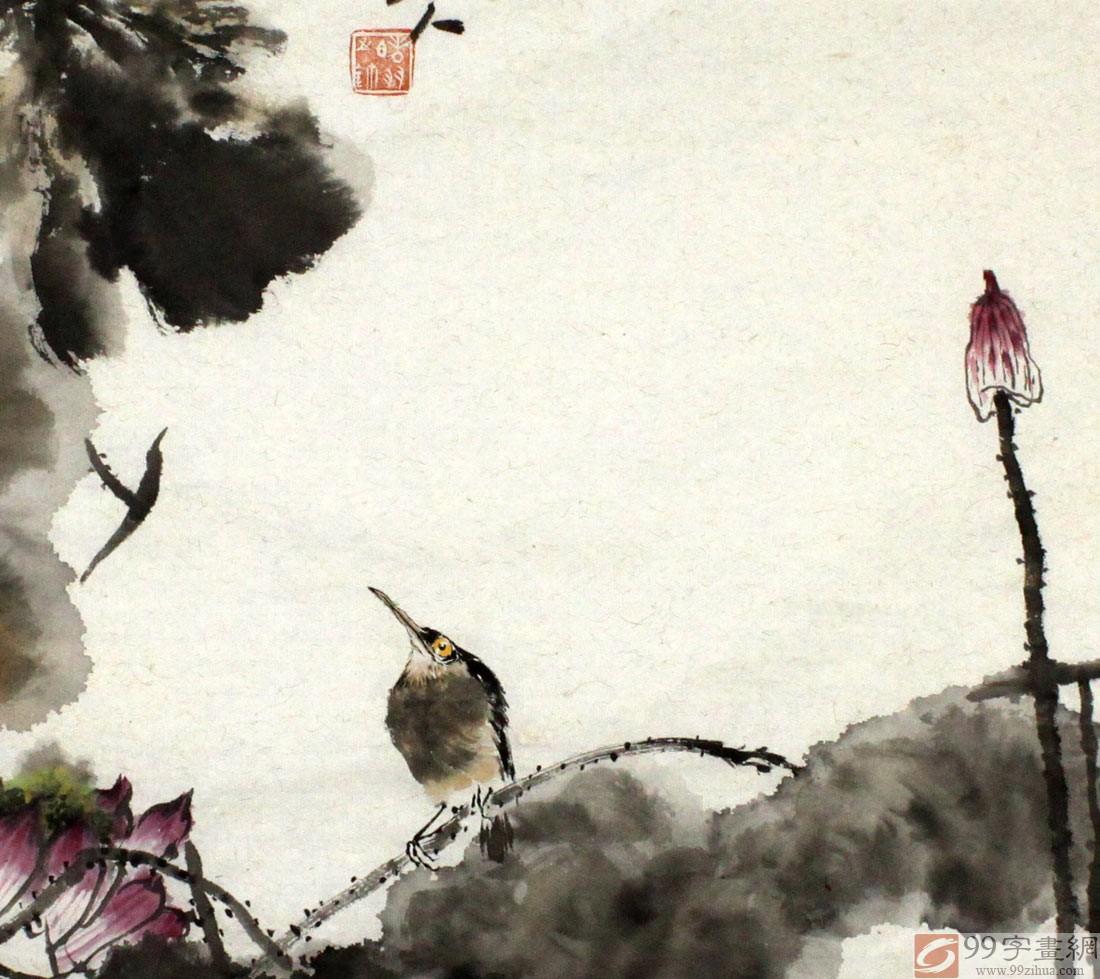 荷花图片手绘水彩笔画