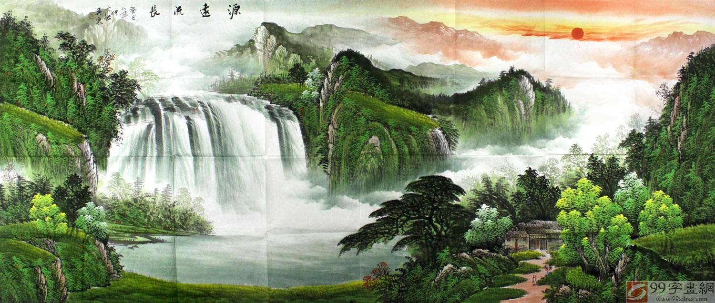 客厅风水含义聚宝盆山水画