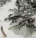 【已售】湖北美协庾超然三尺《归渔图》
