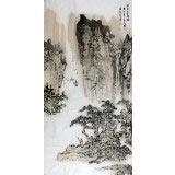 【已售】湖北庾超然三尺山水《林泉高致图》
