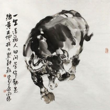 国画牛 水墨动物动物