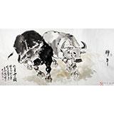 王向阳四尺国画风水牛《仁者无敌》 中国美术家协会会员(询价)