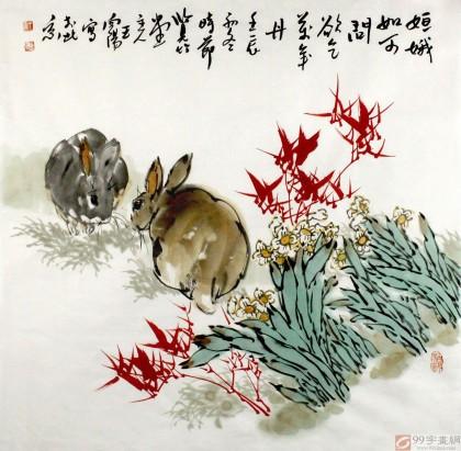 励志的画画素描动物