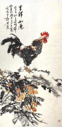 qask著名动物画家王向阳四尺《吉祥如意》(询价)