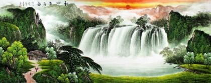 实力派画家吴东小六尺聚宝盆山水《福地安居图》