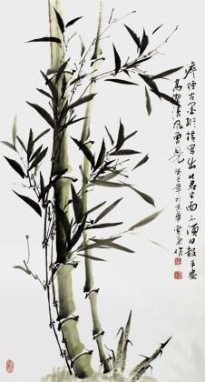 何华贤三尺国画《高节清风》