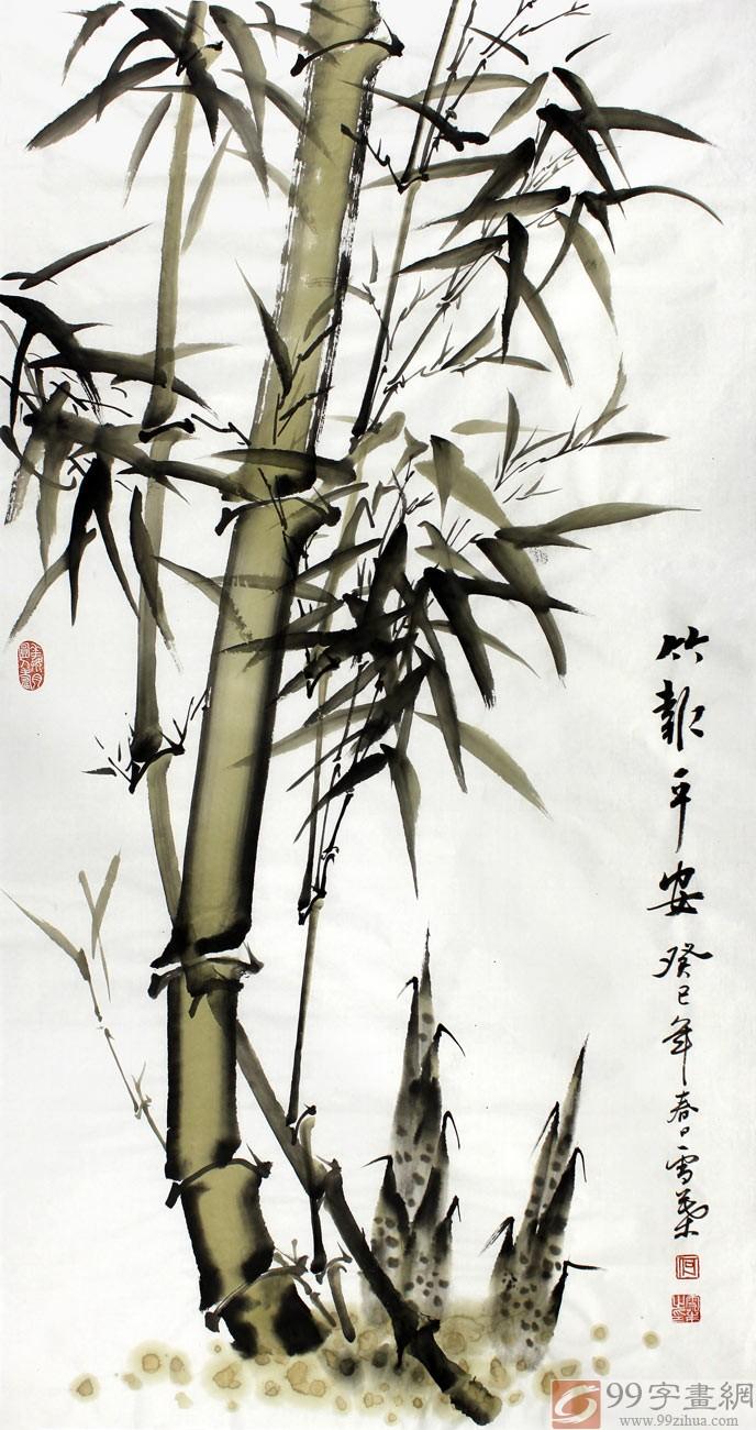 手绘竹子生长过程