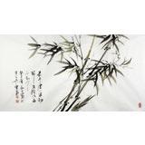 【已售】何华贤三尺竹子《最是虚心留劲节》