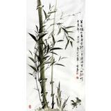 何华贤三尺国画《耸节偶相并》