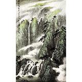 中国最新博彩大全家协会副主席程冰石作品《峡谷清音》(询价)
