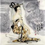 北京美协李凤英四尺斗方《花语》