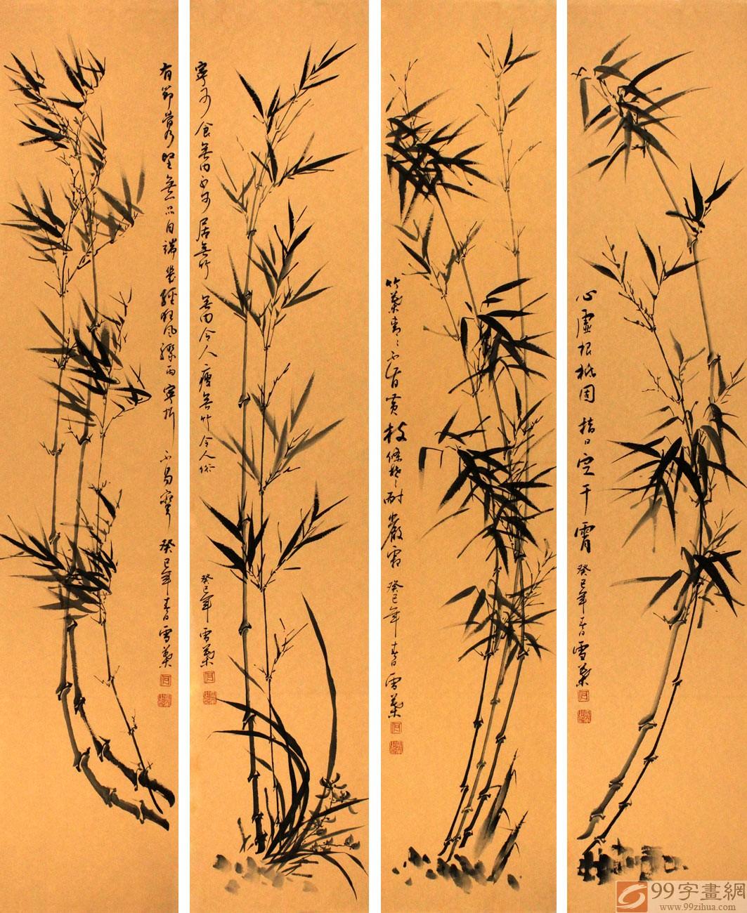 竹子空心,象征谦虚,品格虚心能自持,竹的特质弯而不折,折而不断,象征