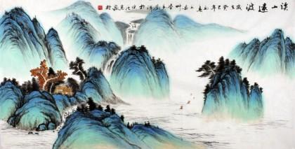客厅山水风景画 刘洋写意画作品 - 写意山水画 - 99