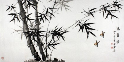 安徽美协何华贤四尺水墨画竹子《高节图》图片