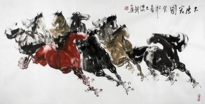 黄江动物国画马到成功
