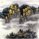 名家赵金鸰太行雪村系列四尺客厅斗方《雨后雪山》(询价)
