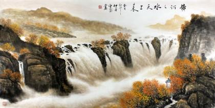 安徽美协何华贤四尺办公室最新博彩大全《黄河之水天上来》