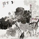 四川美协会员西蜀山人四尺斗方《玉雪》