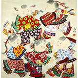 【已售】著名工笔画家赵逸梅四尺斗方传统吉祥图《童趣》