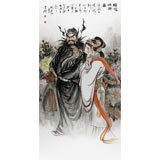 【已售】名家赵金鸰四尺钟馗嫁妹图(询价)