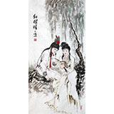 【已售】王一鸣三尺水墨人物画《红楼梦》
