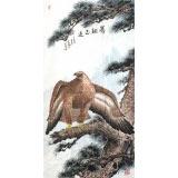 蒲家瑞 四尺松鹰图《骞翮思远》 88岁陕西著名老画家