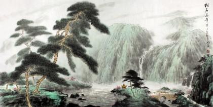 程冰石 四尺 《松石万年》 中国山水画协会副主席
