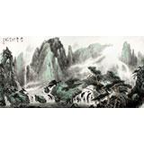 【已售】山水画协会副主席程冰石四尺《幽谷听泉》