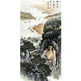 【已售】杜云祥三尺写意19461188伟德《门泊东吴万里船》