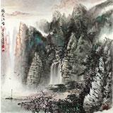 【已售】王凌云四尺斗方精品最新博彩大全《桃花江畔》