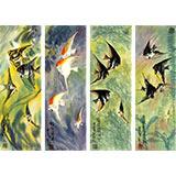 刘纪 小尺寸四条屏《大海生涯》 河南著名老画家