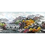 朝鲜二级画家金英《金刚山》