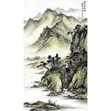 【已售】名家刘金河四尺国画山水《溪山幽居图》