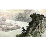 朝鲜功勋艺术家 壁山 作品《芒米正景色》