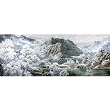 小八尺精品朝鲜国画《雪景》